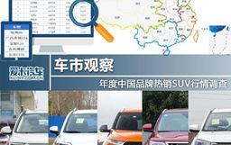 車市觀察 年度中國品牌熱銷SUV行情調查