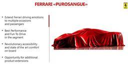 法拉利SUV命名Purosangue 搭全新发动机